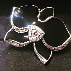 Black Enamel 18KT Diamond Cartier Original ring.
